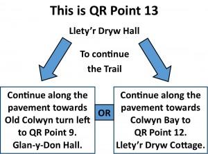 QR Point 13 Lletyr Dryw Hall