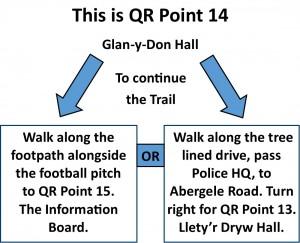 QR Point 14 Glan-y-Don Hall