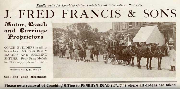J. Fred Francis, 1911-12.