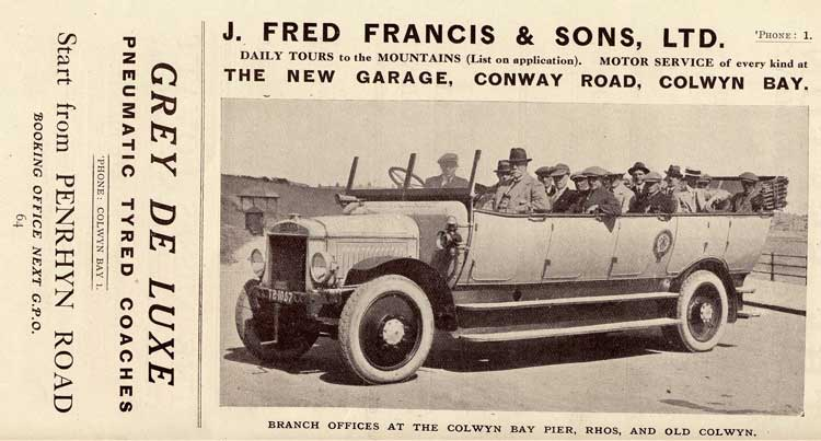 J. Fred Francis, 1921-22.