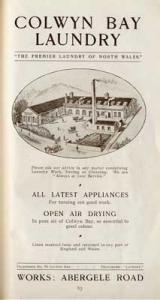 Colwyn Bay Laundry, 1911-12.