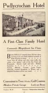 Pwllycrochan Hotel, 1921-22.